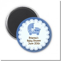 Carriage - Personalized Baby Shower Magnet Favors