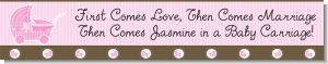 Carriage Pink - Personalized Baby Shower Banners