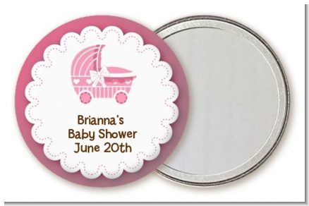 Carriage - Personalized Baby Shower Pocket Mirror Favors