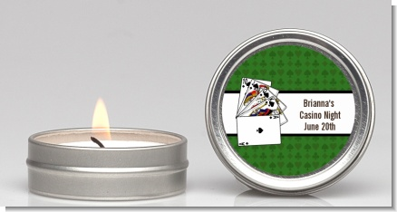 Casino Night Royal Flush - Birthday Party Candle Favors