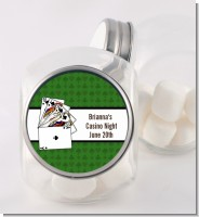 Casino Night Royal Flush - Personalized Birthday Party Candy Jar