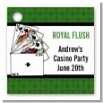 Casino Night Royal Flush - Personalized Birthday Party Card Stock Favor Tags thumbnail