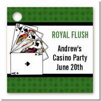 Casino Night Royal Flush - Personalized Birthday Party Card Stock Favor Tags