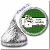 Casino Night Royal Flush - Hershey Kiss Birthday Party Sticker Labels