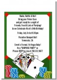 Casino Night Royal Flush - Birthday Party Petite Invitations