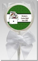 Casino Night Royal Flush - Personalized Birthday Party Lollipop Favors