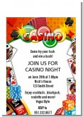 Casino Night Vegas Style - Birthday Party Petite Invitations