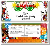 Casino Night Vegas Style - Personalized Bachelorette Party Candy Bar Wrappers