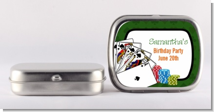Casino Night Royal Flush - Personalized Birthday Party Mint Tins