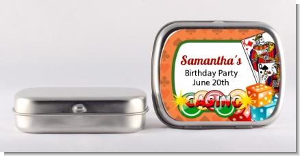 Casino Night Vegas Style - Personalized Birthday Party Mint Tins