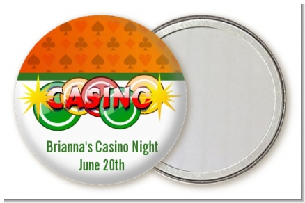 Casino Night Vegas Style - Personalized Birthday Party Pocket Mirror Favors