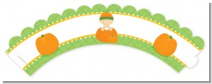 Pumpkin Baby Asian - Baby Shower Cupcake Wrappers