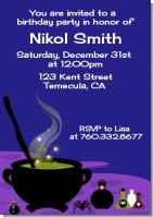 Cauldron & Potions - Birthday Party Invitations