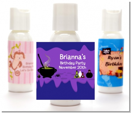 Cauldron & Potions - Personalized Birthday Party Lotion Favors