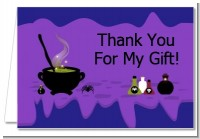 Cauldron & Potions - Birthday Party Thank You Cards