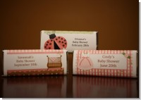 Baby Girl Pink Candy Bar Wrappers