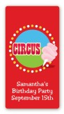 Circus Cotton Candy - Custom Rectangle Birthday Party Sticker/Labels
