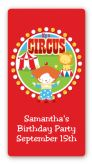 Circus Clown - Custom Rectangle Birthday Party Sticker/Labels