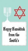 Celebrate Hanukkah - Custom Rectangle Hanukkah Sticker/Labels