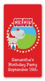 Circus Elephant - Custom Rectangle Birthday Party Sticker/Labels