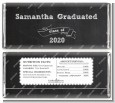 Chalkboard Celebration - Personalized Graduation Party Candy Bar Wrappers thumbnail