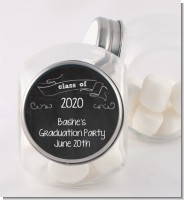 Chalkboard Celebration - Personalized Graduation Party Candy Jar