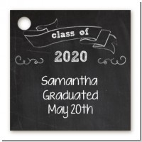 Chalkboard Celebration - Personalized Graduation Party Card Stock Favor Tags