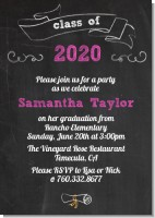 Chalkboard Celebration - Graduation Party Invitations