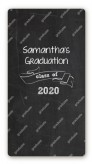 Chalkboard Celebration - Custom Rectangle Graduation Party Sticker/Labels