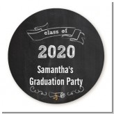 Chalkboard Celebration - Personalized Graduation Party Table Confetti