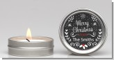 Chalkboard Mistletoe - Christmas Candle Favors