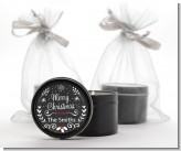 Chalkboard Mistletoe - Christmas Black Candle Tin Favors