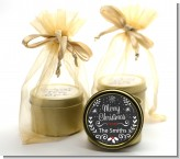 Chalkboard Mistletoe - Christmas Gold Tin Candle Favors