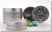 Chalkboard Mistletoe - Custom Christmas Favor Tins