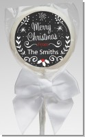 Chalkboard Mistletoe - Personalized Christmas Lollipop Favors
