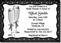 Champagne Glasses - Bridal Shower Invitations
