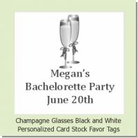 Champagne Glasses - Personalized Bachelorette Party Card Stock Favor Tags