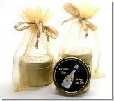 Champagne Gold Silver Faux Glitter - Birthday Party Gold Tin Candle Favors