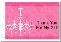 Chandelier - Bridal Shower Thank You Cards