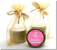 Chandelier - Bridal Shower Gold Tin Candle Favors