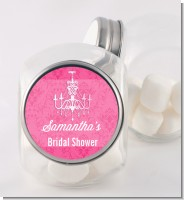 Chandelier - Personalized Bridal Shower Candy Jar