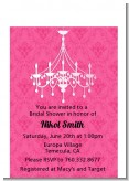 Chandelier - Bridal Shower Petite Invitations