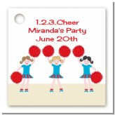 Cheerleader - Personalized Birthday Party Card Stock Favor Tags