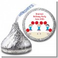 Cheerleader - Hershey Kiss Birthday Party Sticker Labels thumbnail