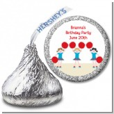 Cheerleader - Hershey Kiss Birthday Party Sticker Labels