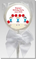 Cheerleader - Personalized Birthday Party Lollipop Favors