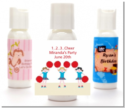 Cheerleader - Personalized Birthday Party Lotion Favors
