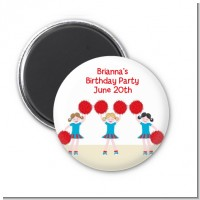 Cheerleader - Personalized Birthday Party Magnet Favors