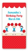 Cheerleader - Custom Rectangle Birthday Party Sticker/Labels