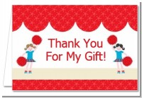 Cheerleader - Birthday Party Thank You Cards